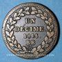 Monnaies Cent Jours. Napoléon I. 2e Blocus Strasbourg 1815. 1 décime 1815BB. Points après DECIME et 1815