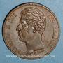 Monnaies Charles X (1824-1830). Module 5 francs bronze 1825. Visite de la Monnaie de Paris