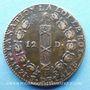 Monnaies Constitution (1791-1792). 12 deniers 1791AA. Metz. Point sous U. Type FRANCOIS