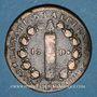 Monnaies Constitution (1791-1792). 12 deniers 1792 MA. Marseille. Métal de cloche