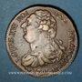 Monnaies Constitution (1791-1792). 2 sols 1791AA, Metz. 2e semestre, type FRANCOIS