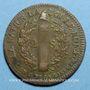 Monnaies Constitution (1791-1792). 2 sols 1792 BB. Strasbourg. Type FRANCAIS. Bronze