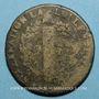 Monnaies Constitution (1791-1792). 2 sols 1792 N. Montpellier. MdC