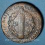 Monnaies Constitution (1791-1792). 2 sols 1792 W pointé, Arras, an 4, type FRANCOIS