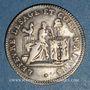 Monnaies Constitution (1791-1792). 20 sols Lefèvre Lesage 1792, an 4