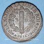 Monnaies Constitution (1791-1792). 3 deniers 1792BB. Strasbourg. Type FRANCAIS. Cuivre