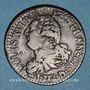 Monnaies Constitution (1791-1792). 3 deniers 1792D Lyon. 2e semestre. Type FRANCOIS