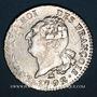 Monnaies Constitution (1791-1792). 30 sols 1792B. Rouen. 1er semestre. Type FRANCOIS