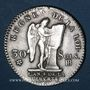 Monnaies Constitution (1791-1792). 30 sols 1792BB. Strasbourg. 2e semestre. Type FRANCAIS