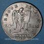 Monnaies Constitution (1791-92), 30 sols 1792A, 1er semestre, type FRANCOIS