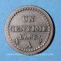 Monnaies Consulat (1799-1804). 1 centime an 8 A