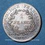 Monnaies Consulat (1799-1804). 1 franc an 12A, 1er Consul