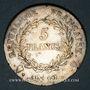 Monnaies Consulat (1799-1804). 5 francs an 12/XI Q. Perpignan