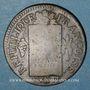 Monnaies Convention (1792-1795). Sol aux balances 1793 BB. Strasbourg. Métal de cloche.