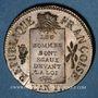 Monnaies Convention (1792-1795). Sol aux balances 1793AA. Metz. Refrappe