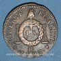 Monnaies Convention (1792-1795). Sol aux balances 1793BB Strasbourg. MdC rougeâtre !