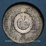Monnaies Convention (1792-1795). Sol aux balances 1793BB. Strasbourg. Métal de cloche
