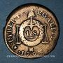 Monnaies Convention (1792-1795). Sol aux balances, type FRANCOISE 1793MA. Marseille