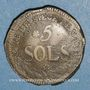Monnaies Convention. Siège de Mayence. 5 sols 1793