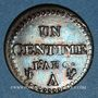 Monnaies Directoire (1795-1799). 1 centime an 6 A. 53 perles à l'avers et 50 au revers