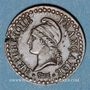 Monnaies Directoire (1795-1799). 1 centime an 7 A. 53 perles à l'avers et 50 au revers