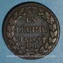 Monnaies Directoire (1795-1799). 1 décime an 7 BB. Strasbourg
