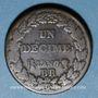 Monnaies Directoire (1795-1799). 1 décime an 7BB. Strasbourg