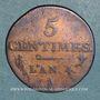Monnaies Directoire (1795-1799). 5 centimes an 4 A (1795-1796)
