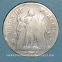 Monnaies Directoire (1795-1799). 5 francs Union et Force an 5A . Grand A