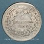 Monnaies Directoire (1795-1799). 5 francs Union et Force an 5A . Grand A