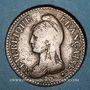 Monnaies Directoire (1795-1799). UN décime, modification du 2 DECIMES avec S effacé an 4 A