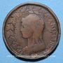 Monnaies Directoire (1795-1799). UN décime surfrappé sur 2 DECIMES an 5 B. Rouen.