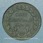 Monnaies Directoire & Consulat. 5 centimes an 8 BB. Strasbourg