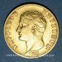 Monnaies 1er empire (1804-1814). 20 franc tête nue an 13A. 900 /1000. 6,45 gr
