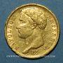Monnaies 1er empire (1804-1814). 20 francs tête laurée EMPIRE, 1809A. 9 proche. (PTL 900‰. 6,45 g)