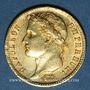 Monnaies 1er empire (1804-1814). 20 francs tête laurée, EMPIRE, 1811W Lille. 900 /1000. 6,45 gr
