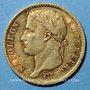Monnaies 1er empire (1804-1814). 20 francs tête laurée, REPUBLIQUE, 1807A. (PTL 900‰. 6,45 g)