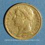 Monnaies 1er empire (1804-1814). 20 francs tête laurée REPUBLIQUE 1808A. (PTL 900‰. 6,45 g)