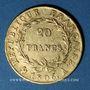 Monnaies 1er empire (1804-1814). 20 francs tête nue 1806A. (PTL 900‰. 6,45 g)