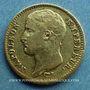 Monnaies 1er empire (1804-1814). 20 francs tête nue, type provisoire, 1807W. Lille. (PTL 900‰. 6,45 g)