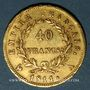 Monnaies 1er empire (1804-1814). 40 francs tête laurée EMPIRE 1811 A. Tr. EU PROTEGE... . (PTL 900‰. 12,90 g)