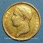 Monnaies 1er empire (1804-1814). 40 francs tête laurée EMPIRE 1811A. (PTL 900‰. 12,90 g)