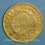 Monnaies 1er empire (1804-1814). 40 francs tête laurée, EMPIRE, 1811A. (PTL 900/1000. 12,90 g)