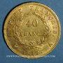 Monnaies 1er empire (1804-1814). 40 francs tête laurée EMPIRE, 1812 A. (PTL 900‰. 12,90 g)