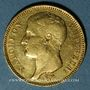 Monnaies 1er empire (1804-1814). 40 francs tête laurée, REPUBLIQUE, 1807A. (PTL 900‰. 12,90 g)