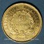Monnaies 1er empire (1804-1814). 40 francs tête laurée, REPUBLIQUE, 1807W. Lille. (PTL 900‰. 12,90 g)
