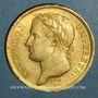 Monnaies 1er empire (1804-1814). 40 francs tête laurée REPUBLIQUE 1808A. (PTL 900‰. 12,90 g)