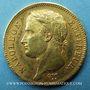 Monnaies 1er empire (1804-1814). 40 francs tête laurée, REPUBLIQUE, 1808A. (PTL 900‰. 12,90 g)