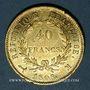Monnaies 1er empire (1804-1814). 40 francs tête laurée, REPUBLIQUE, 1808M. Toulouse. (PTL 900/1000. 12,90 g)