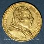 Monnaies 1ère restauration (1814-1815). 20 francs buste habillé 1814A. 900 /1000. 6,45 g. Type avec 4 court